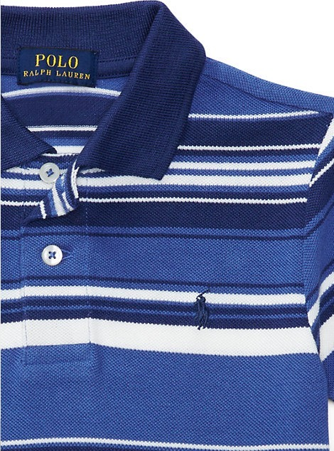 新作♪国内発送 STRIPED COTTON MESH POLO SHIRT  boys 2~7