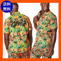 ZUMBA(ズンバ) フィットネストップス 4月新作【送料無料】ZUMBA Get Tropical Short Sleeve Button Up