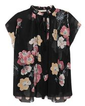 ★関税負担★ULLA JOHNSON★SAADI FLORAL SILK-GEORGETTE BLOUSE