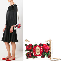 17SS DG1140 ROSE PRINTED LUCIA SMALL BAG WITH CHAIN STRAP