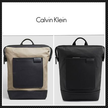 【Calvin Klein】加工キャンバス地バックパック TY canvas back