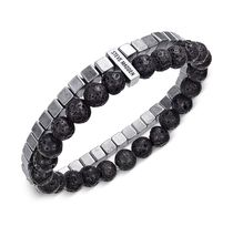 ★Steve Madden★Men's Stainless Steel Beaded Bracelet