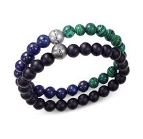 ★Steve Madden★Men's Multi Beaded Bracelet Set