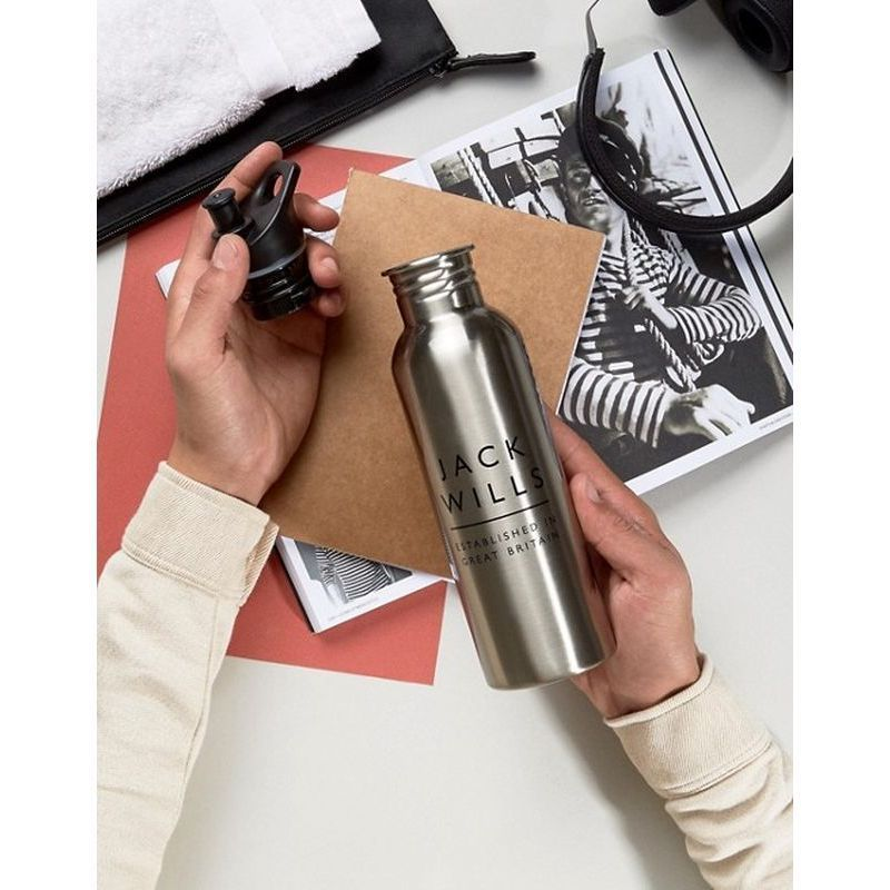 【Jack Wills(ジャック ウィルス)】 Metal Logo Water Bottle