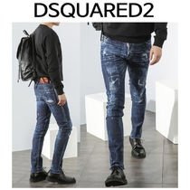 D SQUARED2 ★ STITCH DARK BLUE WASHING JEANS COOL GUY FIT