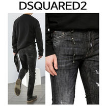 D SQUARED2 ★ CATEN LEATHER PATCH JEANS COOL GUY FIT