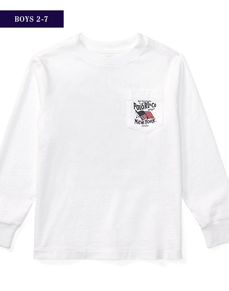 新作♪国内発送 COTTON LONG-SLEEVE GRAPHIC TEE boys 2~7