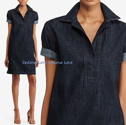 Limited sale Ralph Lauren cotton denim short sleeve dress