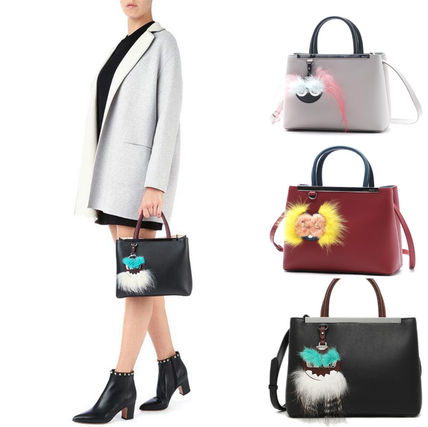 FENDI PETITE 2JOURS 2WAY tote mirror charm with