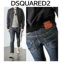 D SQUARED2 ★ 74LB0155 LEATHER PATCH SKATER FIT JEANS