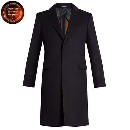 Alexander McQueen - Frayed-edge single-breasted coat