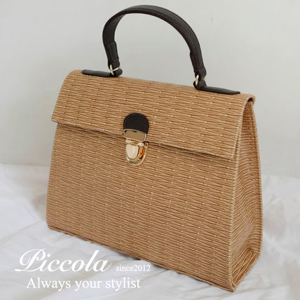 ♦ PICCOLA ♦ summer basket style 2-WAY square bag