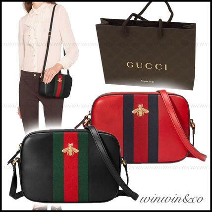 SALE GUCCI embroidery shoulder clutch bag
