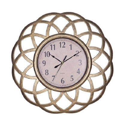 Metallic flower wall clock + Bohemian wall clock +