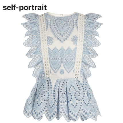 [関税込] SELF PORTRAIT*embroidered frill top* SOLD OUT前に!