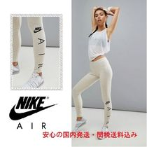 Nike Air Logo Leggings In Oatmeal♪