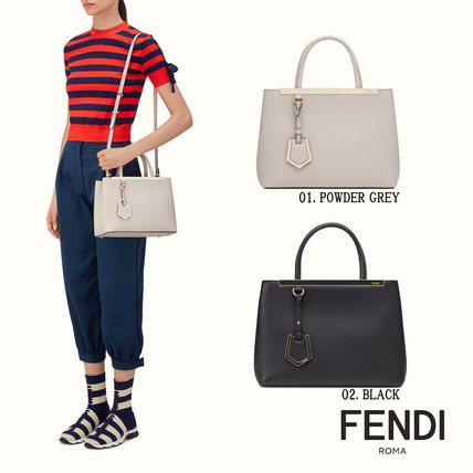 FENDI PETITE 2JOURS smooth leather tote bag