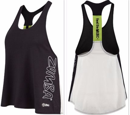 ZUMBA レアな商品 FITNESS Chil the Funk Out RACERBACK TOP