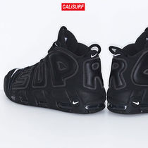 コラボ!サイズ9.5 Supreme X NIKE AIR MORE UPTEMPO 2017/BLK