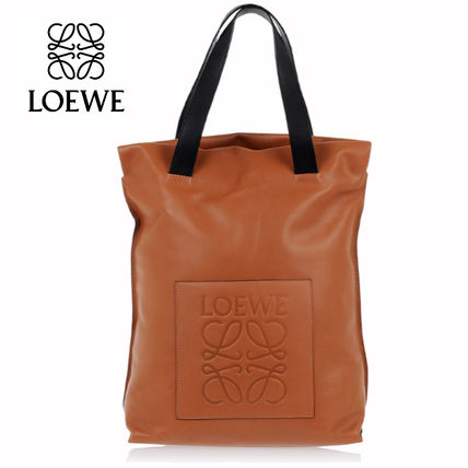 [追跡付] LOEWE* calf-leather logo shopper tote bag* 在庫限!