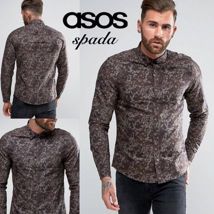 SALE ASOS long sleeve t-shirt camouflage Brown /