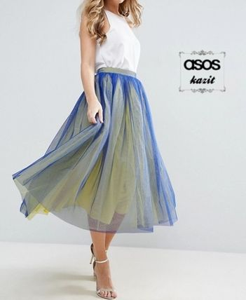 * ASOS * * double color tulle skirt by