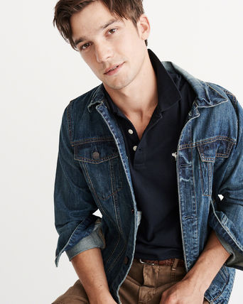Abercrombie & Fitch ポロシャツ アバクロメンズポロ  STRETCH  ICON POLO(2)