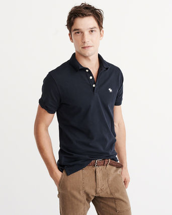 Abercrombie & Fitch ポロシャツ アバクロメンズポロ  STRETCH  ICON POLO(4)