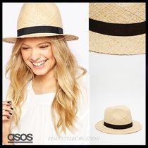 ASOS(エイソス) ハット ★送関込★国内発ASOS Straw Trilby Hat