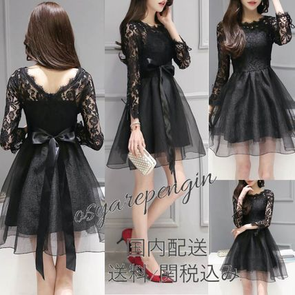 Party dress up parties see-through organza lace