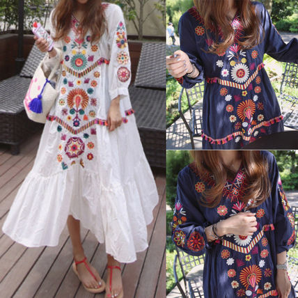 You're going to travel Bohemian style long dress