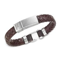 ★Steve Madden★Men's Leather Braided Bracelet