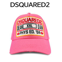 D SQUARED2(ディースクエアード) キャップ D SQUARED2 ★ DEAN AND DAN PATCH BASE BALL CAP PINK