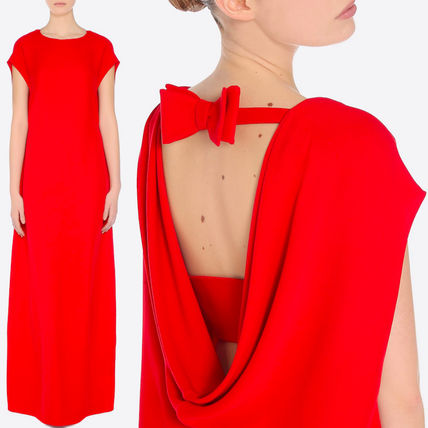 17SS V716 CADY COUTURE GOWN WITH BOW DETAIL
