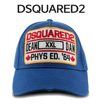 D SQUARED2 ★ DEAN AND DAN PATCH BASE BALL CAP BLUE