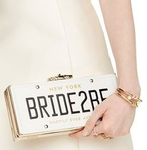 kate spade new york(ケイトスペード) クラッチバッグ ☆kate spade☆wedding belles bride2be license plate clutch!