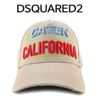 D SQUARED2(ディースクエアード) キャップ D SQUARED2 ★ CALIFORNIA STITCH BASE BALL CAP BEIGE