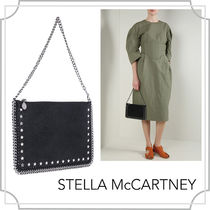 関税込■黒■Falabella clutch in Shaggy Deer/STELLA McCARTNEY