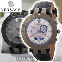 VERSACE(ヴェルサーチ) アナログ時計 Versace Men's V-Race GMT Round Leather Watch 29G98D535-S009