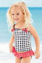 NEXT★最後1点  即発 送料込   Navy Mix Print Tankini♪   4-5y