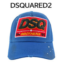 D SQUARED2(ディースクエアード) キャップ D SQUARED2 ★ DSQ BROTHERS BASE BALL CAP BLUE