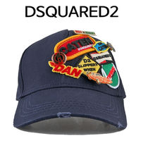 D SQUARED2(ディースクエアード) キャップ D SQUARED2 ★ MULTI PATCH BASE BALL CAP NAVY