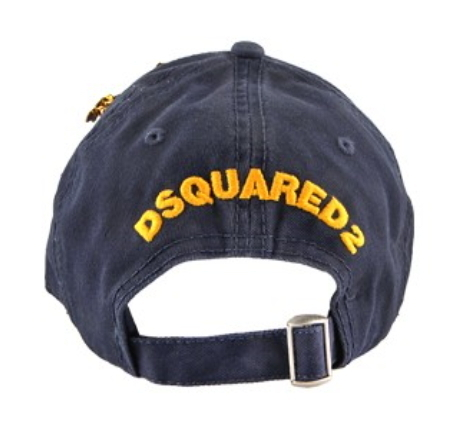 D SQUARED2 ★ MULTI PATCH BASE BALL CAP NAVY