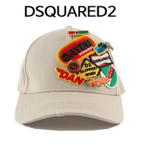 D SQUARED2(ディースクエアード) キャップ D SQUARED2 ★ MULTI PATCH BASE BALL CAP BEIGE