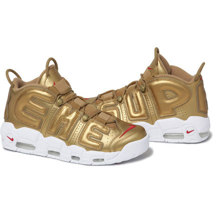 17SS Supreme/Nike Air More Uptempo Gold 1点在庫確保!! US13