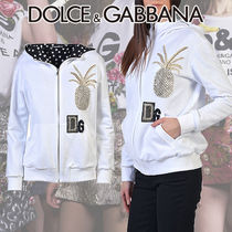 Dolce & Gabbana(ドルチェ&ガッバーナ) パーカー・フーディ Dolce&Gabbana Cotton Zipped Hoodie With Sequins Embroidery
