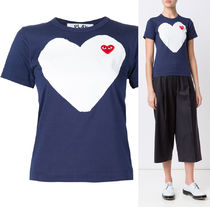 COMME des GARCONS(コムデギャルソン) Tシャツ・カットソー 国内2~3日COMME des GARCONS*PLAYレッドハートTシャツ ネイビー