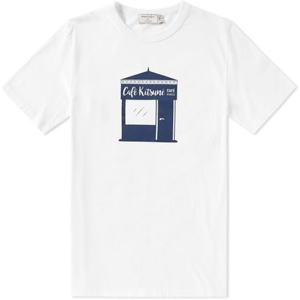 Immediate delivery MAISON KITSUNE 17SS KIOSQUE TEE white s/m