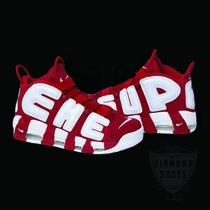 SS17 SUPREME NIKE AIR MORE UPTEMPO MEN'S RED WHITE レッド