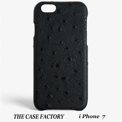 関税送料込☆THE CASE FACTORY☆iPhone7 OSTRICH BLACK